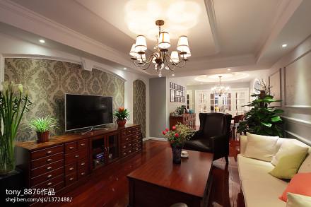 平米二居客厅美式装修图片客厅