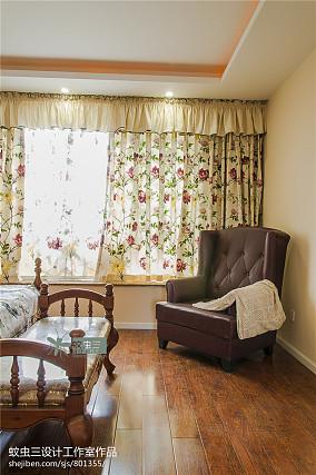 精选面积121平复式卧室美式装修实景图片