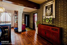 中式餐厅时尚背景墙装修效果图