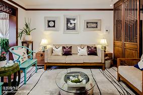 精选88平米二居客厅中式装修设计效果图