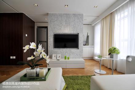 2018面积124平复式客厅现代装修图片欣赏复式现代简约家装装修案例效果图