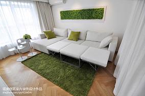现代风格复式楼客厅装修图片