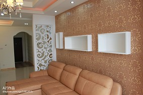 混搭风格三室两厅装修客厅图片