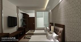 后现代风格婚房卧室装修效果图