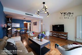 精美89平方二居客厅现代装饰图片大全