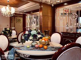 热门面积133平东南亚四居餐厅装修图片大全