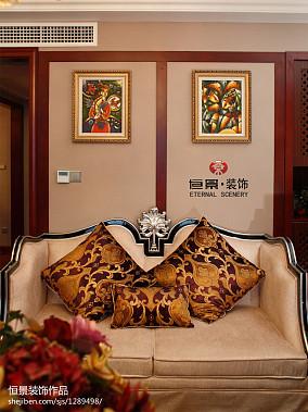 2018东南亚四居客厅欣赏图