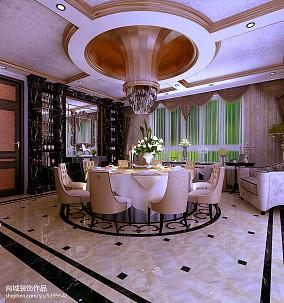 热门129平米欧式别墅餐厅欣赏图片大全