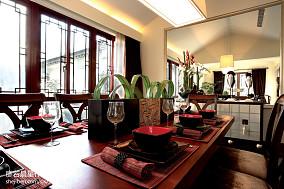 精选135平米中式别墅餐厅装修实景图