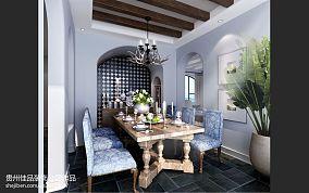 欧式别墅装修样板房小型餐桌椅设计