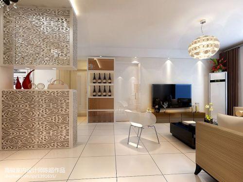 平米二居玄关现代装修效果图片大全81-100m²二居现代简约家装装修案例效果图
