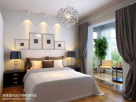2018面积83平现代二居卧室装修设计效果图片欣赏卧室