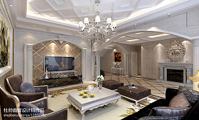 质朴360平别墅客厅实景图片