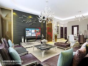 质朴115平三居客厅设计案例