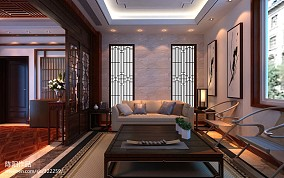现代简欧绚丽客厅设计
