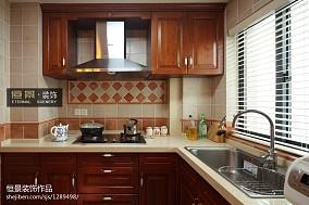 精选100平米三居厨房美式装修设计效果图片欣赏