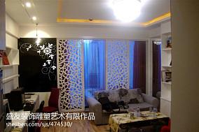 质朴30平小户型客厅实景图