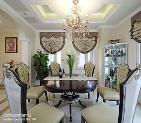 热门面积111平别墅餐厅欧式实景图片欣赏别墅豪宅欧式豪华家装装修案例效果图