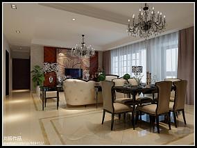 现代简约四居室装修客厅设计图片