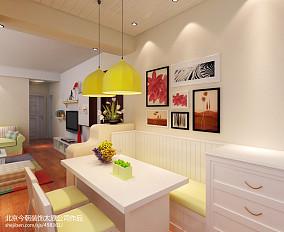 田园地中海风格两室一厅餐厅装修效果图