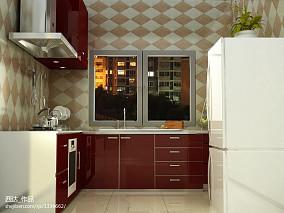 现代简约风格两室两厅厨房餐厅装修效果图