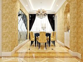 2018精选面积77平欧式二居餐厅装修图片