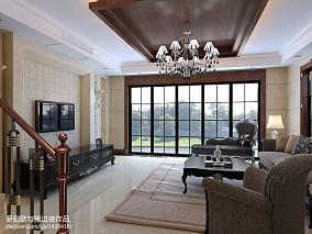 2018精选面积141平别墅客厅新古典装修设计效果图片欣赏
