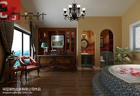紫色卧室婚房榻榻米床装修效果图