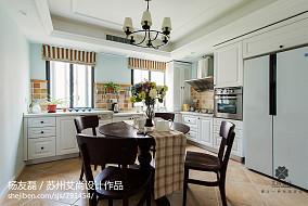 精美100平米三居厨房美式效果图片大全