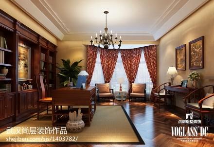 优雅1000平新古典别墅书房设计美图