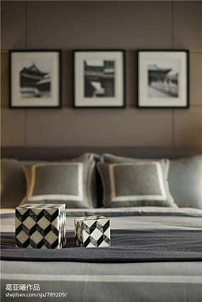 暖色调卧室窗帘搭配效果图