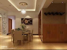 小别墅效果图新中式卧室设计