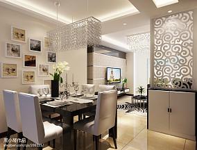 现代简约客厅两室一厅装修效果图