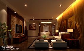 美式简约88平米两室两厅装修客厅图片