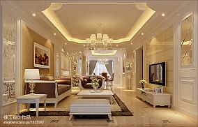 精美100平米三居客厅欧式实景图片欣赏