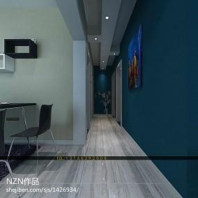 精美86平米二居客厅现代装修实景图