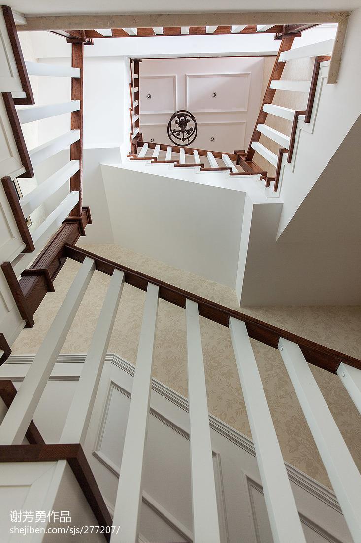 美式精美室内楼梯图片设计图片赏析