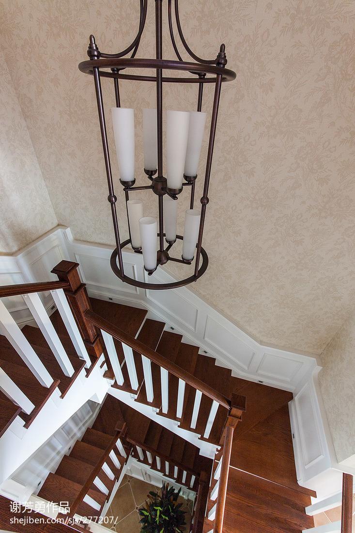 美式精美室内楼梯效果图设计图片赏析