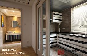 热门90平米二居厨房现代装修设计效果图片大全