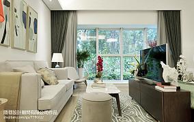 108.8平精选混搭客厅装修欣赏图片样板间潮流混搭家装装修案例效果图