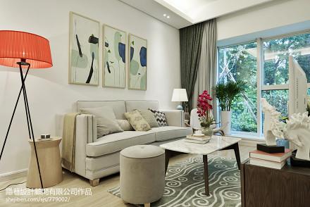 96.9平热门混搭客厅装修设计效果图片大全