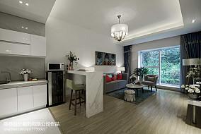 现代家庭吧台装修效果图样板间潮流混搭家装装修案例效果图