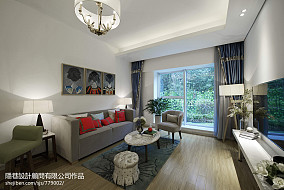 77.3平精美客厅混搭欣赏图样板间潮流混搭家装装修案例效果图