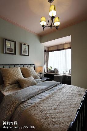 2018面积96平美式三居卧室装饰图片大全
