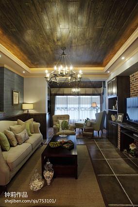 精选98平米三居客厅美式装修欣赏图片大全