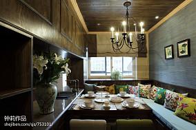 精美105平米三居餐厅美式装修效果图片欣赏