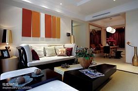 热门117平米四居客厅东南亚实景图片欣赏