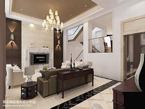 热门137平方新古典别墅客厅欣赏图
