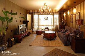 精选99平米三居客厅东南亚装饰图片欣赏