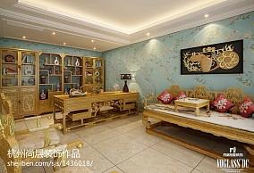 家装美式风格三居室效果图